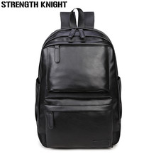 Brand Men Backpack Leather Male Functional bags Men Waterproof backpack PU big capacity Men Bag School Bags For Teenager uiyi brand men backpack pu leather male functional bags men waterproof backpack big capacity men bag school bags for teenagers