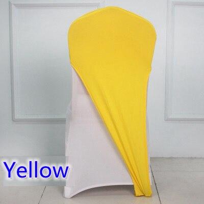 Di colore giallo Spandex copertura della sedia di lycra cap copertura mezza hotel banchetto della festa nuziale della decorazione stretch elastico copertura della sedia-in Coprisedia da Casa e giardino su  Gruppo 1