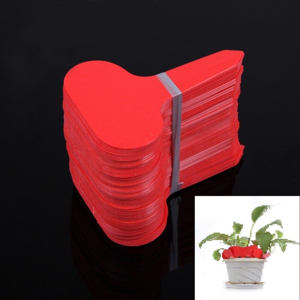 100Pcs lot Plastic T type Nursery Garden Plants Labels Flower Pot Thick Tag Marker for Plants