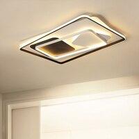 Люстры для гостиной спальня блеск Прямоугольник СВЕТОДИОДНЫЙ Потолок волна люстра AC85 265V lamparas де techo современные лампы