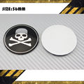 4PCS 56.5MM Skull Car Wheel Center Hub Cap Emblem Badge Decal Sticker Black Crossbone