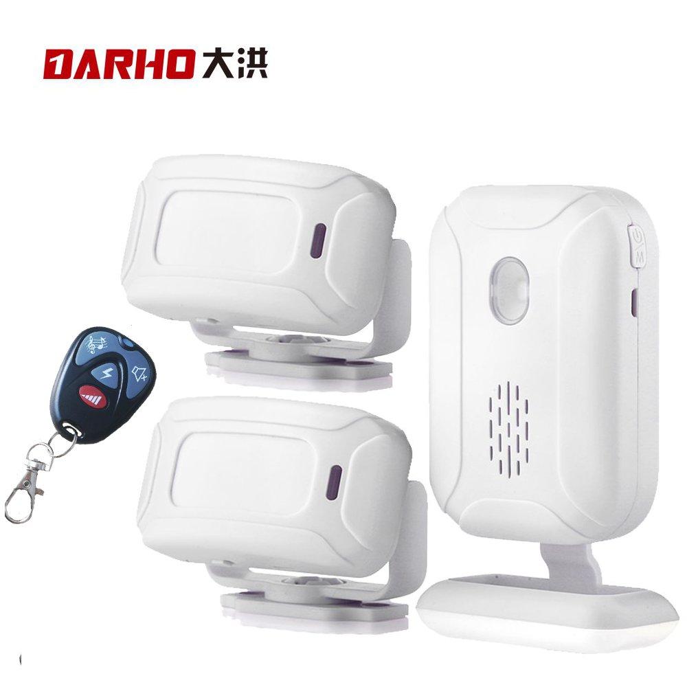 Darho 36 Ringtones Loja Loja Home Security Bem-vindo Chime Campainha Da Porta De Entrada de Alarme Sem Fio IR Infrared Sensor de Movimento Sensor de