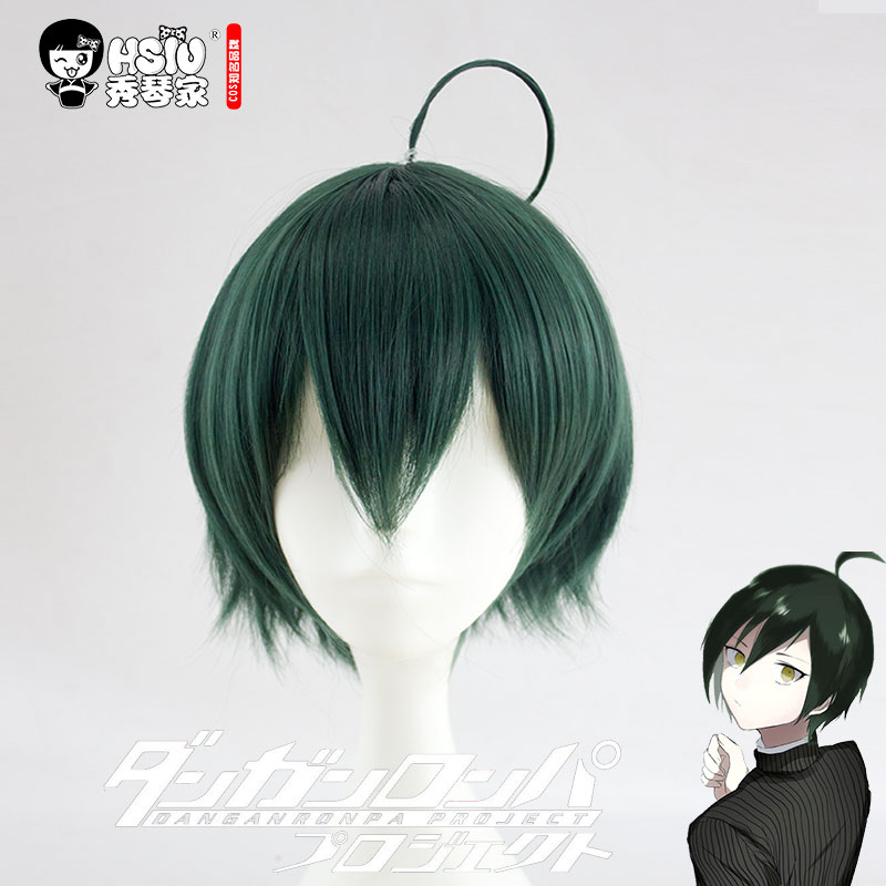 HSIU NEW High quality Shuichi Saihara Cosplay Wig Danganronpa V3: Killing Harmony Costume Play Wigs Halloween Costumes Hair