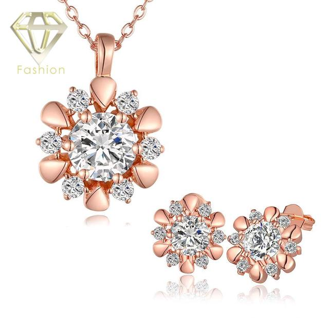 Antique jewellery uk hot sale classic rose flower inlaid cz rose antique jewellery uk hot sale classic rose flower inlaid cz rosewhite gold color aloadofball Image collections