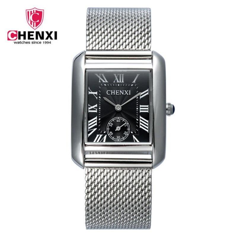 Yeni ən yaxşı lüks marka CHENXI Kvars Saat Paslanmayan Polad Mesh - Kişi saatları - Fotoqrafiya 1
