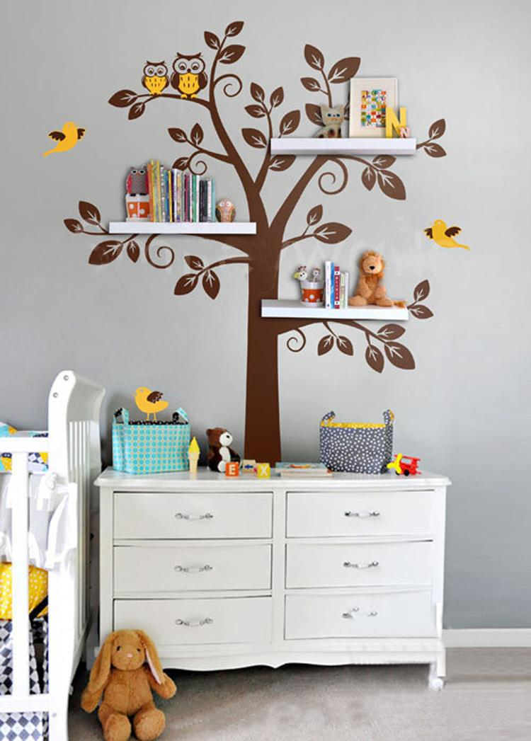Wall Shelf Tree, Nursery Wall Decals, Decorative Wall Shelves Modern Wall  Art Sticker Bedroom Decor Kids Room Decor In Wall Stickers From Home U0026  Garden On ...