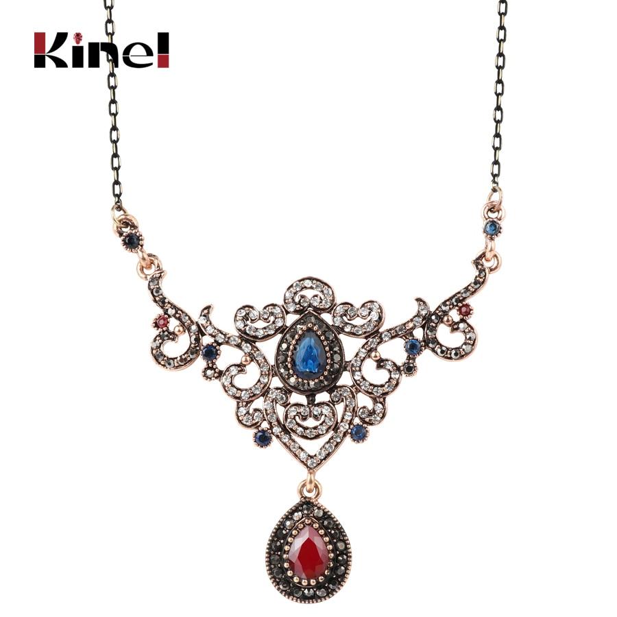 Kinel Luxury Turkish Jewelry Pendant Necklace For Women Vintage