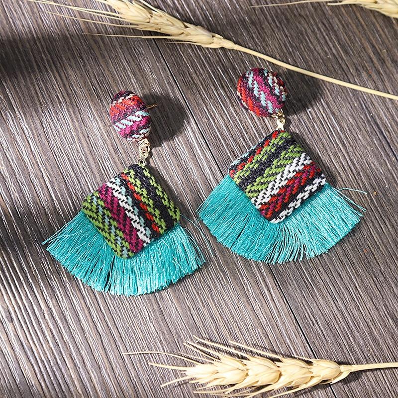 New Arrival Fashion Tassel Earrings for Women 19 Statement Earrings Striped Long Fringe Earrings Girl Birthday Jewelry Gift 3