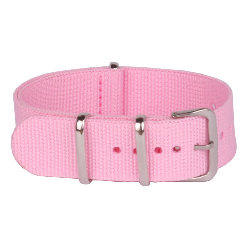 Buy 2 Get 10% OFF) New Arrival Ladies Women Nato 18 mm Army Solid Pink Nylon Fabric Watch watchband Strap Band Buckle belt 18mm pink solid color off shoulder crop bodycon sweaters vests