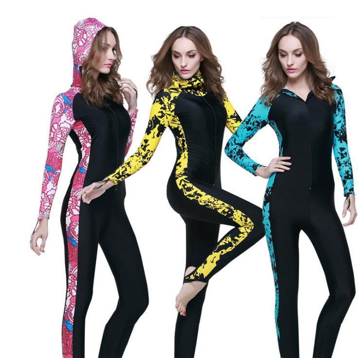 Женщины Человек из одного предмета с длинными рукавами брюки погружной костюм surf стволы серферов для защиты от холода и тепло предотвратит...