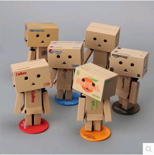 2017 japanese 10 Style anime New Lovely Danboard PVC Action Figure Danbo Doll Mini 8cm P Toy with LED light Free Shipping