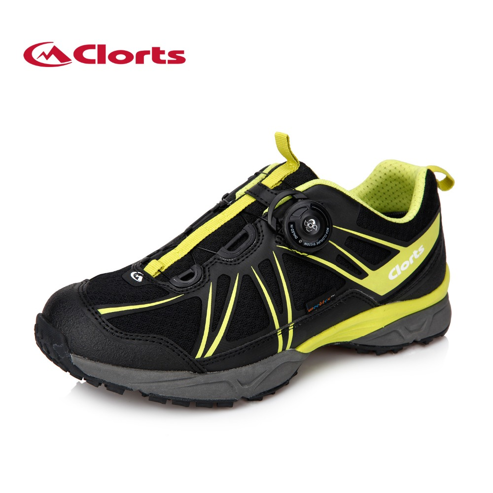 a2991d5f6f6cd Clorts BOA Lacing System Waterproof Trekking Shoes for Men Black Shock  Absorption Leather Outdoor Hiking Sneakers 3D027-in Hiking Shoes from  Sports ...