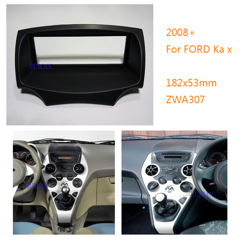 Jiuscan Car Radio Dvd Facia Panel Kit Installation Frame For Ford Ka  Car Radio Fascia Facia Panel Adaptor Mm Size In Gps Accessories From
