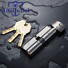 Size 70mm Cylinder Door Hardware Security Locks Brass Cylinder Double Single Open Same Key Interlocking(China)