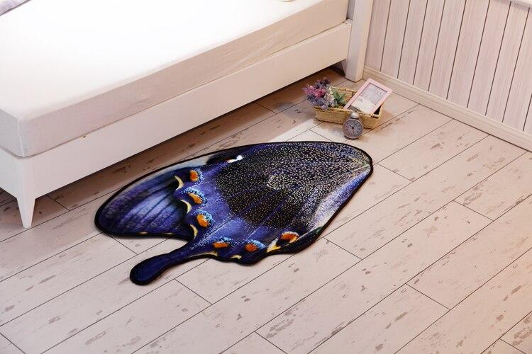 3D papillon tapis de sol tapis salle de bain tapis doux pied pad porte tapis salon chambre chevet tapis tapis bébé ramper tapis - 2