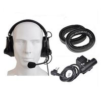 2019 Z TAC Airsoft Element Headphone Comtac III Noise Reducation Headset With PTT Kenwod Tactical Headset For Shooting Z051+Z113