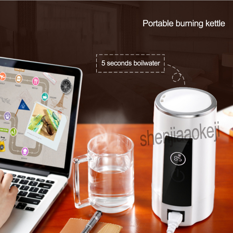 Portable burning kettle Small Travel Electric Cup Boiled Water Stainless steel Mini Tour Kettles 0.6L 1PC electric cup electric hot water cup small portable travel electric kettle mini small capacity insulation heating boiling water