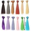 1pcs 15cm*100cm Doll Wigs BJD/SD doll hair DIY High-temperature Wire Colors Khaki \ green \ light blue etc.