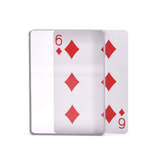 Playing Cards Close-Up Magic Tricks Omni Deck Glass Card Deck Ice Bound Magic Tricks Acrylic Entertainment Board Games