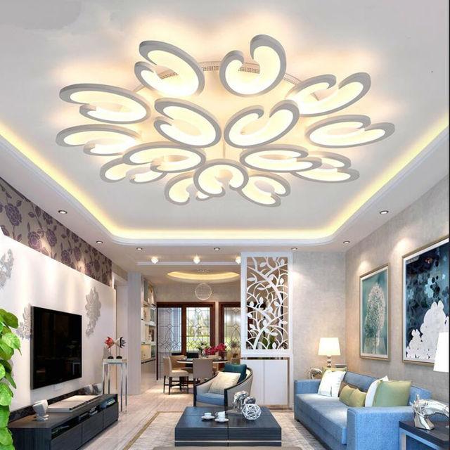 Lusters Plafondverlichting LED Dimmen Kroonluchter Plafond Home ...