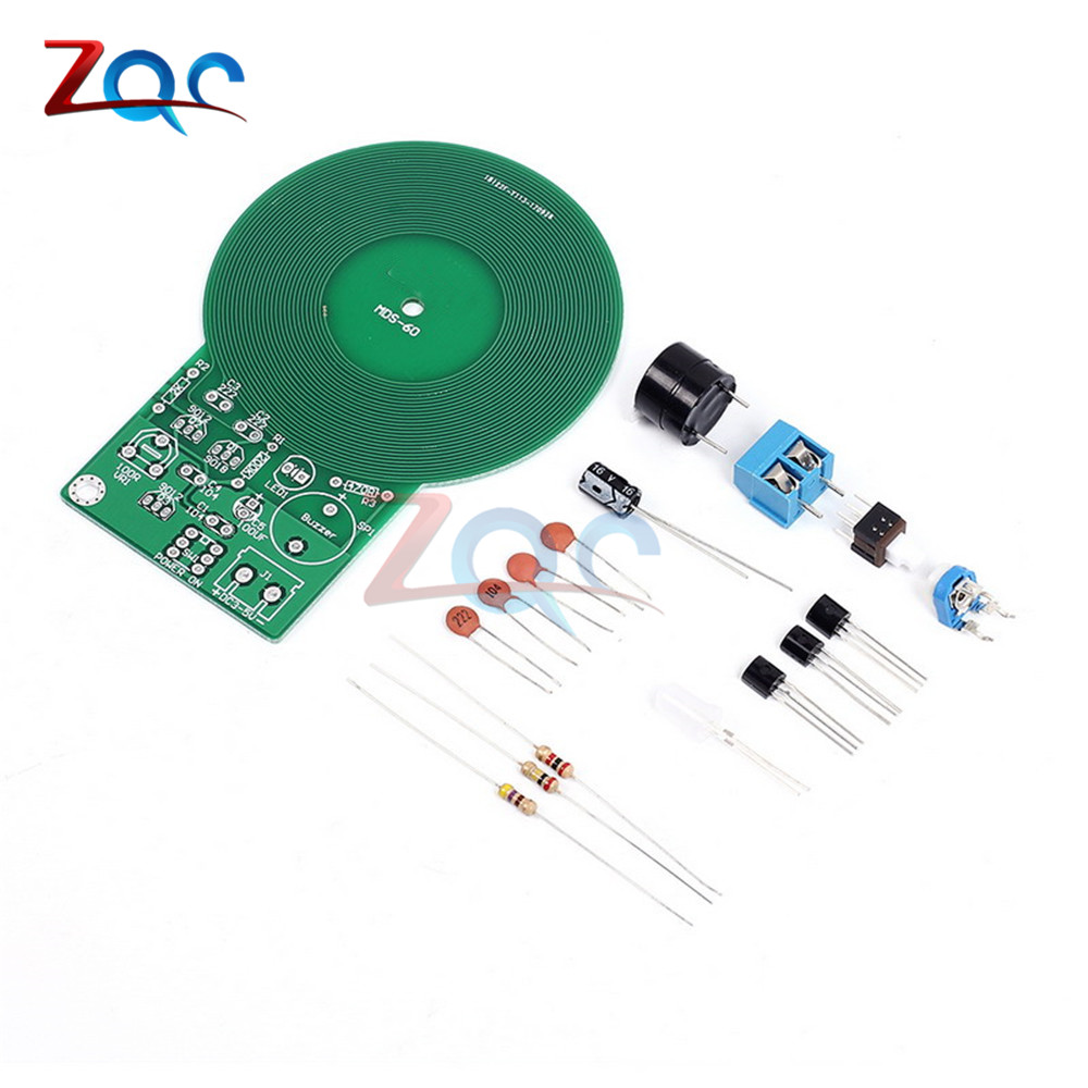 Diy Kit Metal Detector Electronic Dc 3v 5v 60mm Non Contact Circuit Production Project Suite Kits Module Board Sensor Part With Battery Case In Instrument Parts Accessories