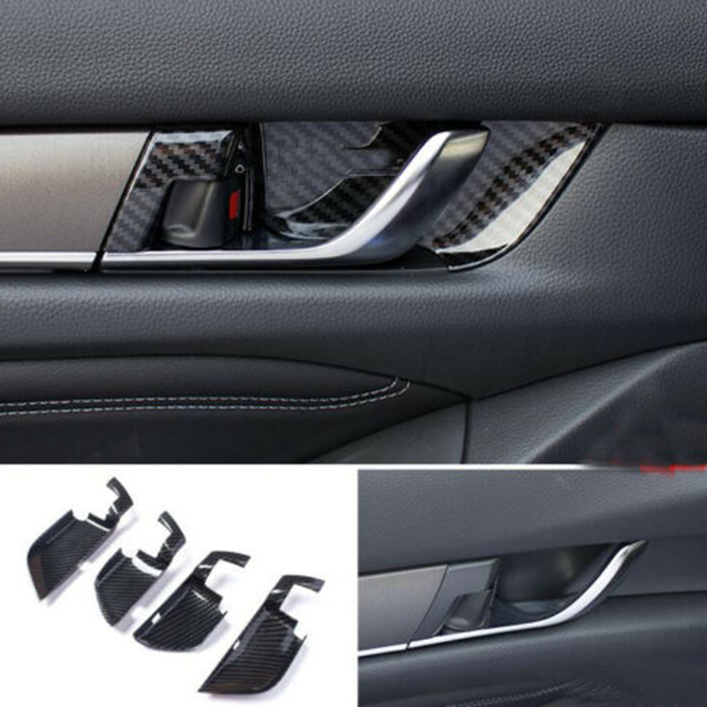8pcs Outer Door Handle Panel Cover Trim Wthout Smart Hole For Honda Accord 13-17