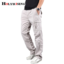 Holyrising Mens Cargo Pants Men 100% Cotton pant Army Military Pants Cotton Multi Pockets Stretch Man Casual Trousers 18670 5