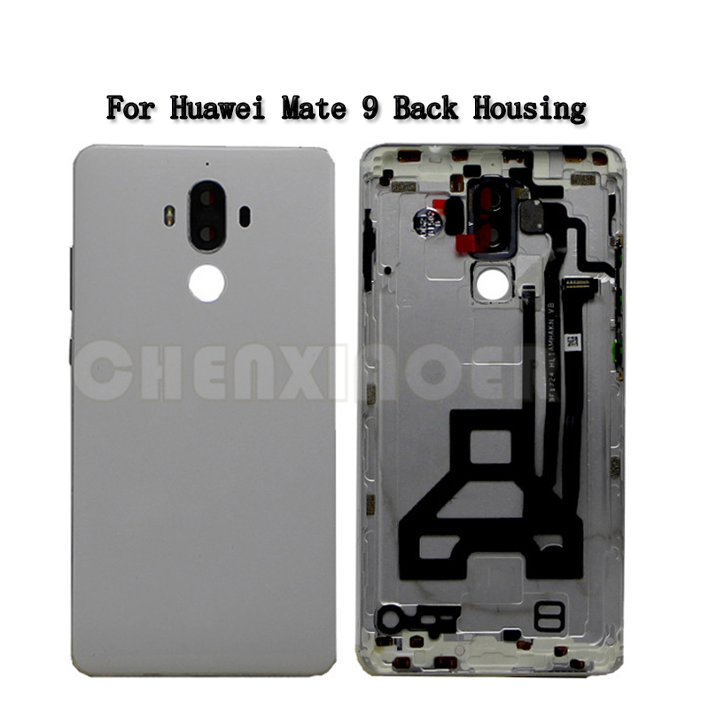 For Huawei Mate 9 MHA AL00 Case Battery Back Cover For Huawei Mate9 Rear Battery Door Housing With Camera Lens Side Buttons