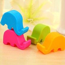The mobile frame / mini mobile phone mobile phone holder multicolor elephant lazy animal bracket can be printed log manufacturer