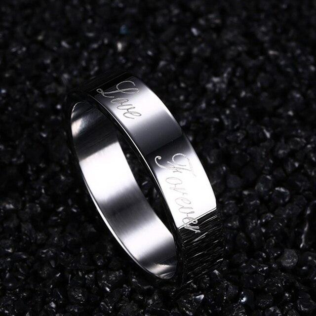 CAR3 anello amante di scrivere amore per sempre per le donne e l'uomo ha USA taglia 6 7 8 9 per le donne di compleanno regalo