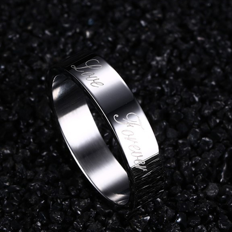 CAR3 lover ring write love forever for women and man have USA size 6 7 8 9 for women birthday gift