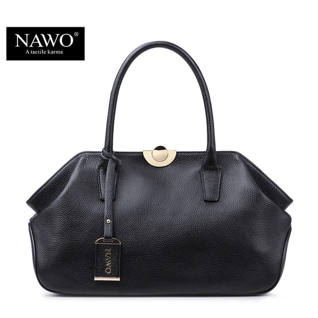 NAWO 2016 Bolsas De Luxo Mulheres Sacos de Designer de Moda de Alta Qualidade Real do Couro Genuíno Bolsa de Ombro Feminino Hobos Sac A Principal