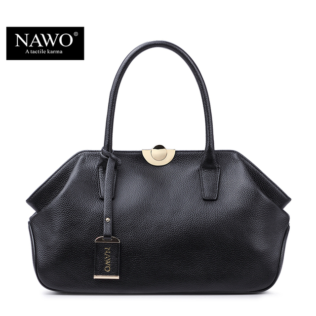 NAWO 2016 Luxury Handbags Women Bags Designer High Quality Fashion Genuine Real Leather Shoulder Bag Female Hobos Sac A Main