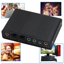 BGEKTOTH 1 Set USB 5.1 Channel External Optical Audio Fiber Sound Card S/PDIF for Laptop PC DN001