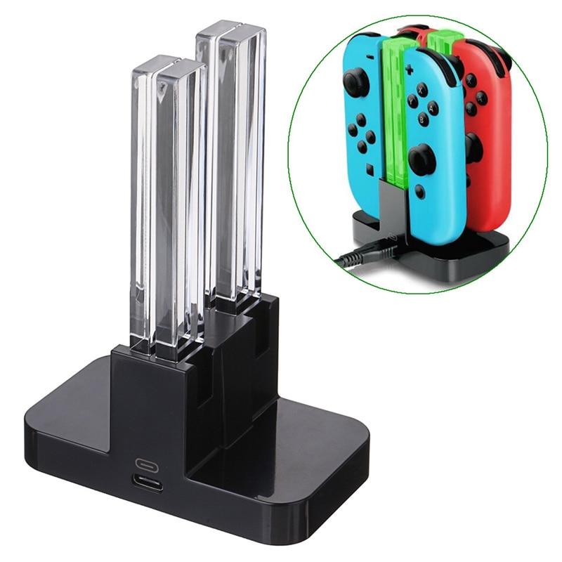все цены на LED Charging Dock Station Charger Cradle For Nintendo Switch 4 Joy-Con Controllers 4 In 1 Charging Stand For Nintend Switch NS онлайн