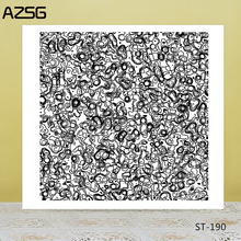 AZSG Abstract Lines Dot Bacteria Clear Stamps/Seal For DIY Scrapbooking/Card Making/Album Decorative Silicone Stamp Crafts