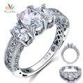Павлин Звезда Винтажном Стиле 2 Карат Создания Алмазный Solid 925 Серебряная Свадьба Обручальное Кольцо Ювелирные Изделия CFR8093