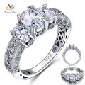 Peacock Star Vintage Style 2 Carat Created Diamond Solid 925 Sterling Silver Wedding Engagement Ring Jewelry CFR8093