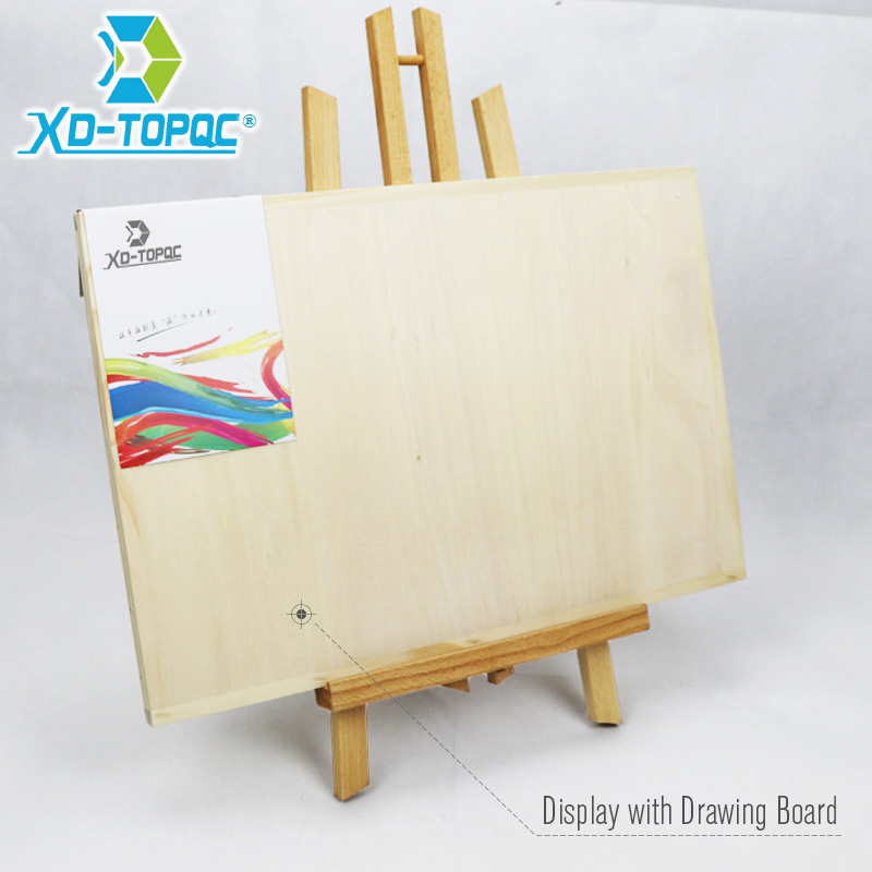 XINDI Pine Wood Easel 3 Sizes Tabletop Drawing Artist Wooden Fold Standing Easels Painting Whiteboard Chalk board Easels WE05 6
