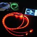 Видимый СВЕТОДИОДНАЯ Вспышка Света Наушники С микрофоном 3.5 мм светящиеся наушники с микрофон Для Iphone 6 6 s для Samsung NOTE 7 xiaomi redmi pro
