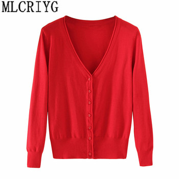 Spring Lady's Knitted Sweater Plus Size 5xl Cardigans for Women Long Sleeve Female Cardigan Short Sweaters sueter mujer YQ213 1