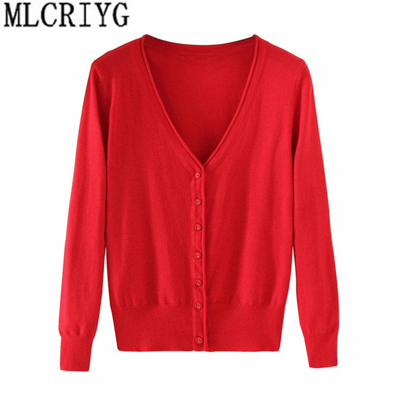 Spring Lady's Knitted Sweater Plus Size 5xl Cardigans for Women Long Sleeve Female Cardigan Short Sweaters sueter mujer YQ213-in Cardigans from Women's Clothing on Aliexpress.com | Alibaba Group