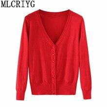 Весна Дамская вязаный свитер плюс размеры 5xl кардиганы для женщин для с длинным рукавом женский кардиган короткие свитера sueter mujer YQ213