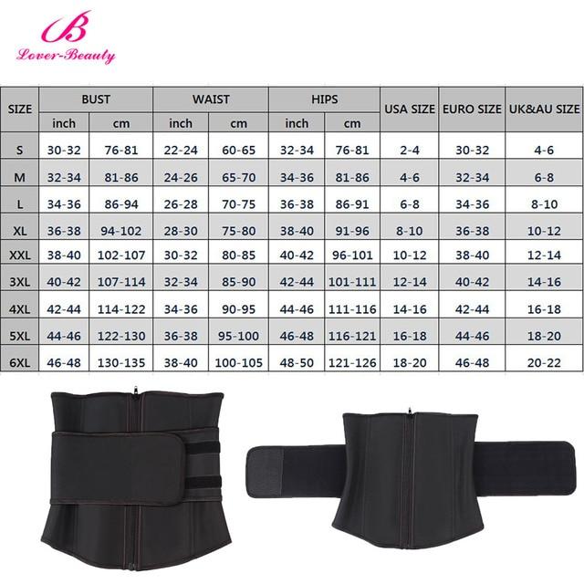 Lover Beauty Abdominal Belt High Compression Zipper Plus Size Latex Waist Cincher Corset Underbust Body Sweat Waist Trainer C 5