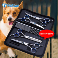 Pet Beauty Stainless Steel Scissors Set Pet Grooming Dog Cat Caring Modeling BeautyTools Supplies For Other Animals Dropshipping