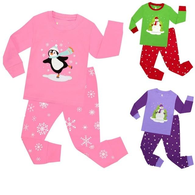 2018 girls christmas clothing sets children 2pc sleepwear baby christmas pajamas sets girls christmas pyjamas pijamas - Girl Christmas Pajamas