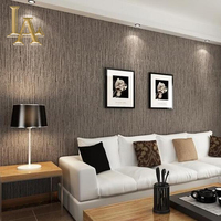 New Hot Sale Vertical Stripes Wood Pattern Designs Printed Non Woven Wallpaper Bedroom Study Background Decor