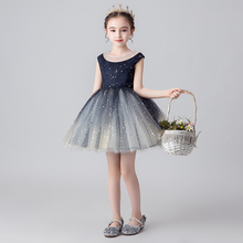 Girls dress sequins wedding party tutu for kids girls princess vestido infantil evening formal dresses