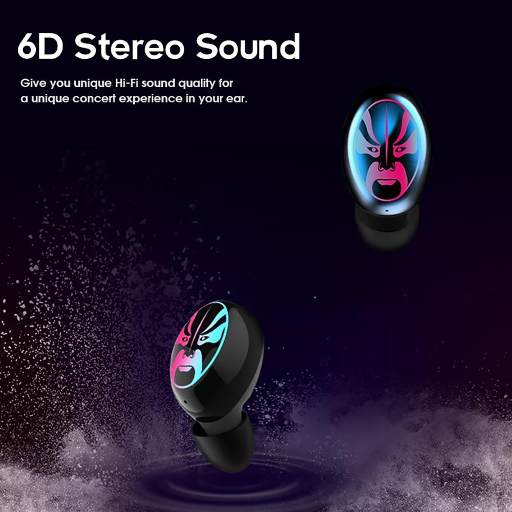 US $36 89 27% OFF|CALETOP Bluetooth 5 0 Earphones TWS True Wireless  Headphones HIFI 6D Stereo Music Mini Earbuds with Dual MIC Cool Lamp  Headset-in