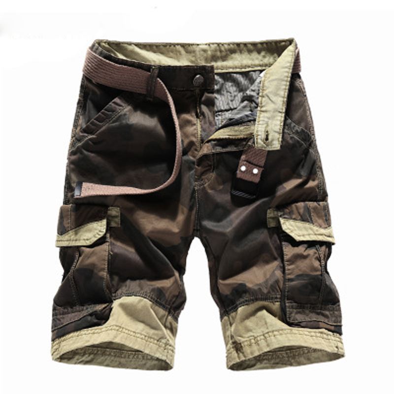 Mens Fashion Cotton Shorts 3D Print Camouflage 2018 New Arrival Sexy Creative Cool Short Trousers